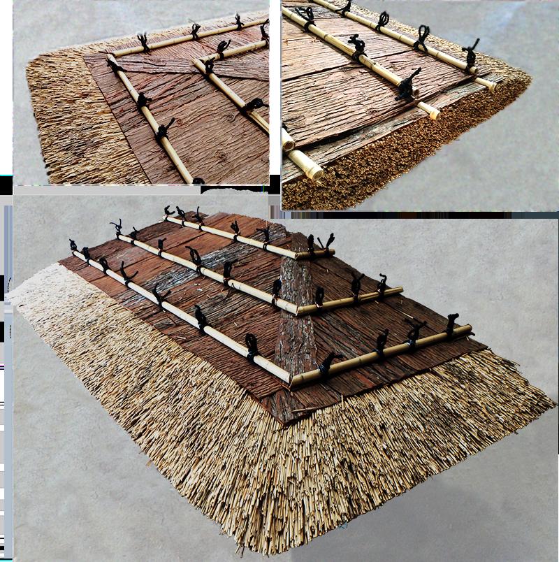 オーダーメイド型茅葺き 茅の庇 - ひさし